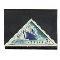 """Монако.Ми-Р43 .Доплатная марка.Пароход """"Соединенные Штаты Америки"""" Серия: Транспортные средства.1953."""