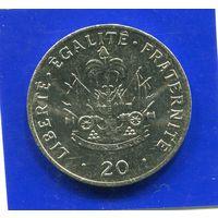 Гаити 20 сентимес 1991 UNC