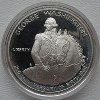 США полдоллара 1982 года. Вашингтон. Серебро. Пруф. Состояние!