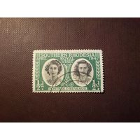Южная Родезия 1947 г.Принцессы Елизавета и Маргарет.