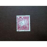Гренландия  1963 г.Северное сияние.