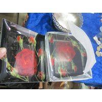 Тарелки Arcofam набором 6 шт, 18х18 см, стекло.