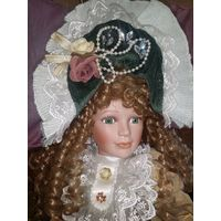 Обворожительная нежная и изящная барышня!Большая винтажная итальянская кукла от Greazione Artigiana di Monte