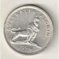 Австралия 1 флорин 1954 Королевский визит в Австралию
