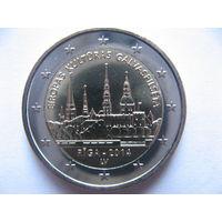 Латвия 2 евро 2014г. Рига - культурная столица Европы 2014. (юбилейная) UNC!