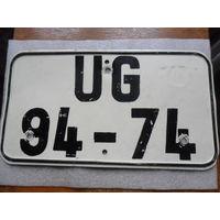 Автомобильный номер, ГДР