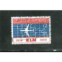 Нидерланды. Ми-737.Douglas DC-8 над картой мира Серия: 40 лет голландской авиакомпании K.L.M.1959.