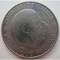 Франция 1 франк 1988 г. 30 лет Пятой Республике (g)