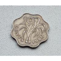 Свазиленд 10 центов, 1986 1-2-5