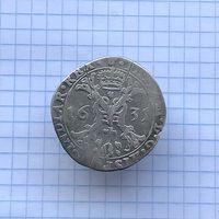 1/2 талера, пол патагона 1631 г. РЕДКИЙ , отличный