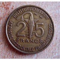 Того (Французская Западная Африка) 25 франков 1957 г.