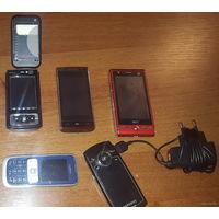 Телефоны (на запчасти) и кабеля