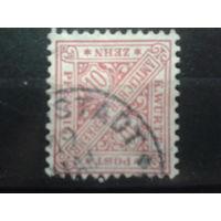 Вюртемберг 1881 служебная марка 10пф