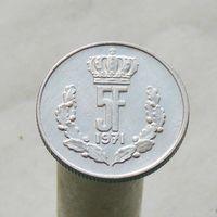 Люксембург 5 франков 1971
