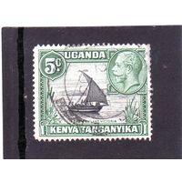 Восточно-африканское сообщество. Кения.Уганда.Танганьика.Ми-32.Парусник на озере Виктория. Король Георг V. 1935.