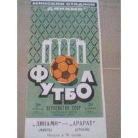 1973 год Динамо Минск--Арарат Ереван