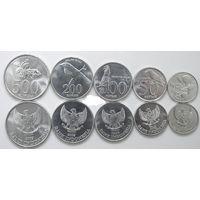 Индонезия 1995 - 2003 набор 5 монет UNC