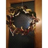 Рождественский венок новогоднее украшения