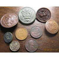 Пуговицы и центы США