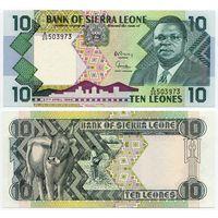 Сьерра Леоне. 10 леоне (образца 1988 года, P15, UNC)