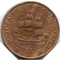 Южная Африка, 1 пенни 1949