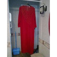 Платье вечернее оригинальное отличный покрой р. 46