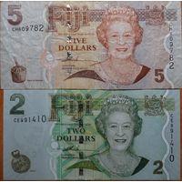 2+5 доллара 2008-12 г.г. #P109-110