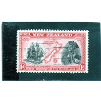 Новая Зеландия.Ми-254.Столетие Новой Зеландии.Капитан Джеймс Кук и барк Индевор. 1940.