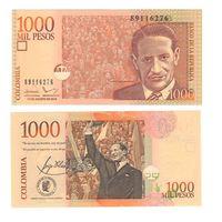 Банкнота Колумбия 1000 песо 2015 UNC ПРЕСС Фидель?