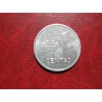 1 цент 1991 год Литва