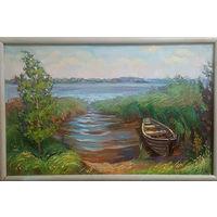 """""""Ясный день. Браславские озера"""" живопись маслом"""