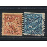 Швеция 1920 Герб Рожок Стандарт #131,135