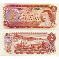 Канада. 2 доллара (образца 1974 года, P86b, aUNC)