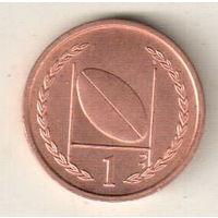 Остров Мэн 1 пенни 1997