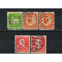 Дания 1935 Ганс-Христиан Андерсен, сказочник Из серии #222,224,225 Все марки по 10 руб