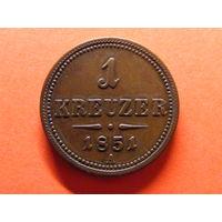 1 крейцер 1851 года мд Вена