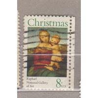 Рождество религия с правым боковым полем США 1973 год лот 1063 можно раздельно
