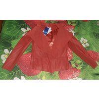 Кожаный пиджак-куртка 50-52 р-р