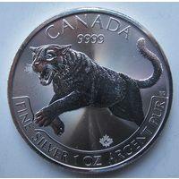 Канада, 5 долларов, 2016, серебро (Первая монета серии 'Predators')