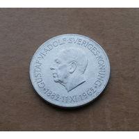 Швеция, 5 крон 1962 г., серебро, 80 лет королю Густаву VI Адольфу