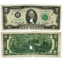 США. 2 доллара (образца 1976 года, L, Калифорния, P461)