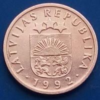 1 сантим 1992 ЛАТВИЯ - первый год чекана