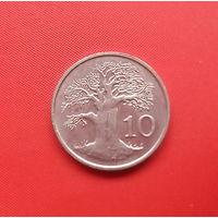 69-21 Зимбабве, 10 центов 1997 г. Единственное предложение монеты данного года на АУ