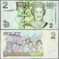 Фиджи 2 доллара образца 2007 года UNC p109b