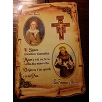 Картина Католическая. Из Италии.