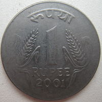 Индия 1 рупия 2001 г. (g)