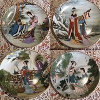 Тарелка коллекционная Гейши Япония 4 шт