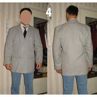 Пиджак светлый двубортный E&R (Польша), хлопок 50%, пэ 50%