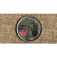 Канада 25 центов 2012 Текумсе красный лист //(Ок)