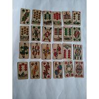 Старинные немецкие игральные карты-F.A.Lattmann in Goslar,Skat Pack with Prussian Pattern(Goslar).No19. 1900 год.